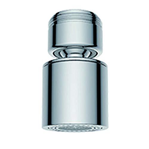Waternymph Wasserhahn-Luftsprudler, 360-Grad-drehbarer Schwenkkopf, Wassersparender Siebstrahlregler, geeignet für Küche/Bad, zwei unterschiedliche Wasserdruchflüsse, 24mm Außengewinde (M24)-chrom
