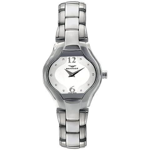 Sandoz 71580-08 - Reloj de mujer acero plata