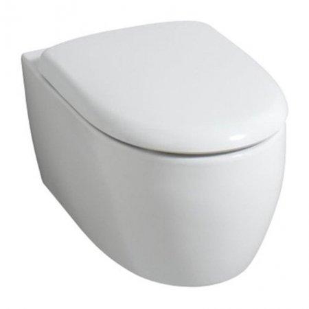 Keramag iCon xs Wand-WC spülrandlos Ausladung 49 cm + Haro WC Sitz Softclose