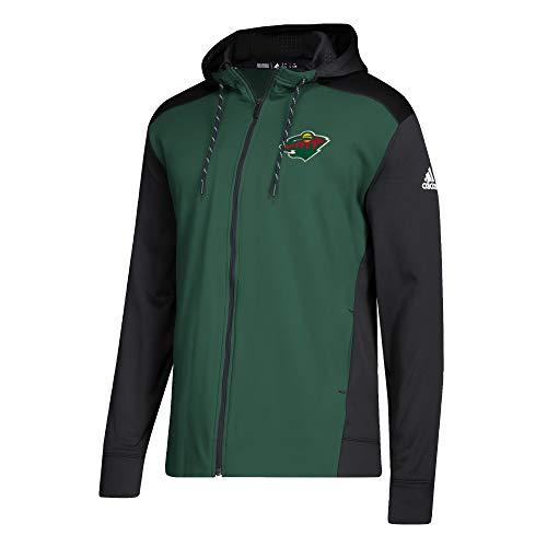 adidas Minnesota Wild NHL Full-Zip Hoodie Sweatshirt, M -