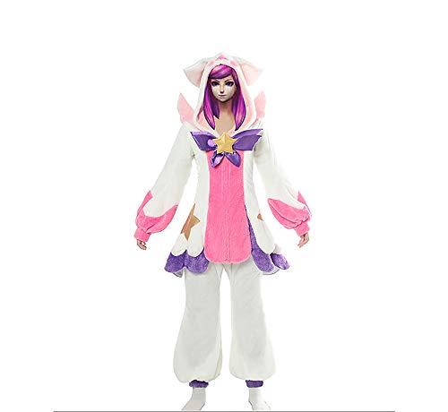 De Lux Kostüm - LOL League of Legends Cos Schlafanzug Guardian Die Herrin der Leuchtkraft Lux Cosplay Kostüm Halloween Party Weihnachten,XXXL