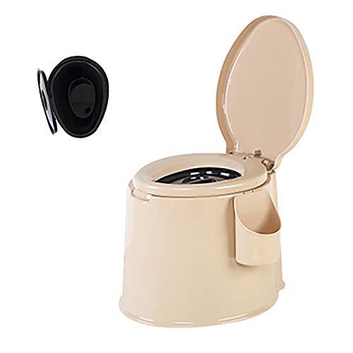 XIHAA Mobile Toilette Anti-Rutsch-Schwangere Frauen Toilette ältere tragbare geduldige Erwachsene Kommode, ältere Schwangere Frauen bewegliche Erwachsene Haushalts-tragbare Kommode,C