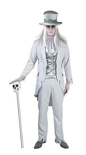 Halloween Bräutigam Kostüm - Boland 79037 - Erwachsenenkostüm Geister-Bräutigam, Größe 54 / 56, weiß