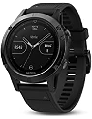 Garmin Fēnix 5 Gray - Montre GPS Multisports Outdoor - Bracelet Noir (Reconditionné Certifié)