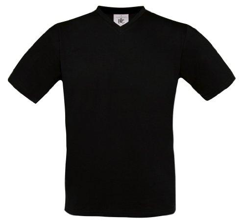 B & C Exact V-Neck [tu006] T-Shirt mit V-Ausschnitt Schwarz - Schwarz