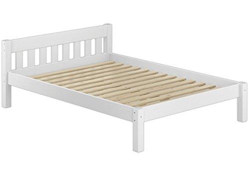 Erst-Holz 60.38-12 W Einzelbett mit Rollrost – 120×200 – Massivholz Weiß