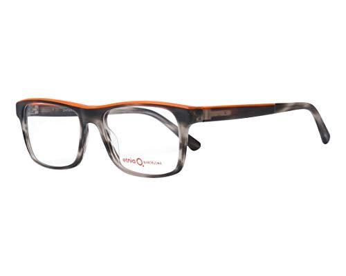Etnia Barcelona Brille (ONTARI BKOG) Acetate Kunststoff geräuchert schwarz - matt orange