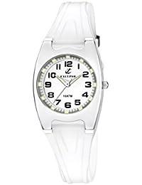 Calypso - K6042/A - Montre Fille - Quartz - Analogique - Aiguilles lumineuses - Lumineuse - Boussole - Bracelet plastique Transparent