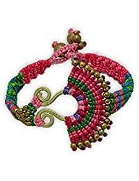 Pulsera Étnicos Perlas de Color Rosa y el Oro del Metal - NUB 3137 E Rose - Blue Pearls