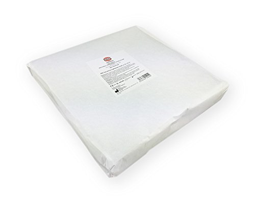 Garza idrofila di puro cotone per medicazione corrispondente ai saggi del F.U., non sterile. Peso netto pacchi Kg 1. Produzione europea - classe II A.