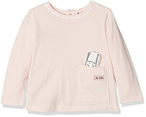 TOM TAILOR Kids Baby-Mädchen Langarmshirt T-Shirt with Snail in Pocket Rosa (Pastellic Pink 5699),