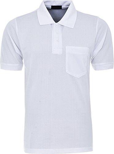 Maan Store Herren Poloshirt schwarz schwarz Large Weiß