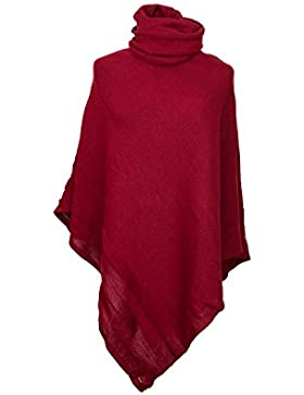 4sold Conjunto de Poncho + para Mujer Manoplas asimétrico Capa Guantes de Costura para Camisetas de Mujer Talla...
