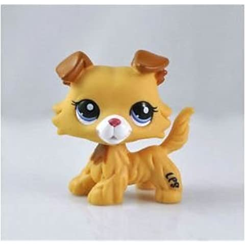 Great gifts store littlest pet shop LPS Pet Collie Dog Child Girl Figure Toy Loose Cute lps by new