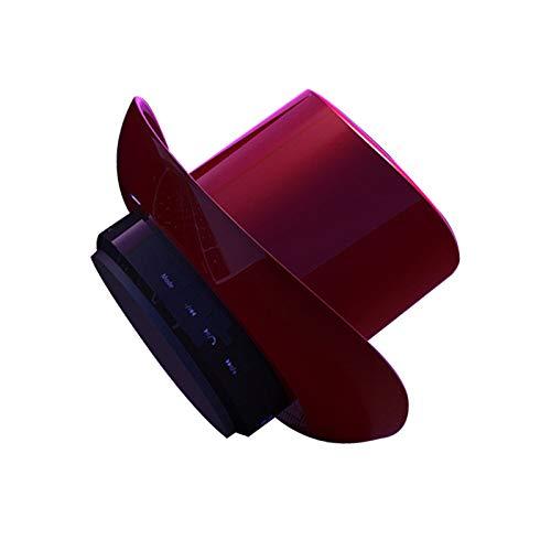 qiyanCowboy Hat Tarjeta de Audio Bluetooth Mini Altavoz inalámbrico Bluetooth Regalo Creativo portátil Rojo