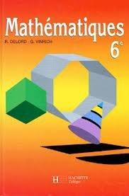 Mathématiques, 6e (édtion 1990). Livre de l'élève