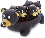 DolliBu Family Animal Bath Squirters 4 Piece Bath Toy Set, Toddler Bath Toys for Bathtime & Water Fun, Gir