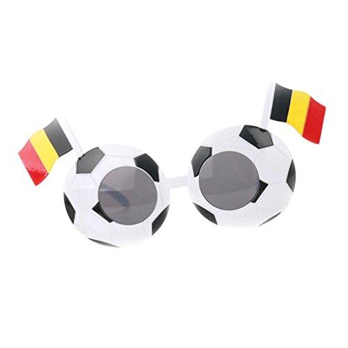 Baoblaze WM Olympia Fan Fanmeile Fanartikel Deutschland-Sonnenbrille Fußball Spaßbrille Länderbrille Olympia Fußball Flagge Style - Belgien