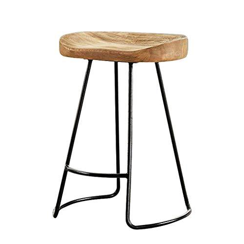 YeHuiTai Tabouret de Bar, Chaise de Bar, Tabouret Haut, Chaise de Maison, Chaise de Bar en Bois massif