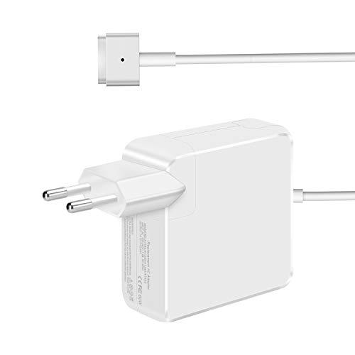 60w Netzteil Ladegerät (PaxLux Kompatible mit MacBook Pro Ladegerät,Ersatz 60W MagSafe 2 T Stecker Power Adapter (Netzteil) für MacBook Pro 13 Zoll Retina (ab Ende 2012)-mit EU Wandstecker,Netzkabel)