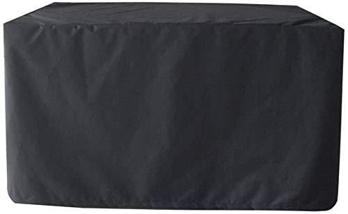 Ecke Ess-set (LPD Abdeckung Gartenmöbel Abdeckhaube Schutzhülle Abdeckplane for Gartenmöbel Rattan Patio Tisch ESS-Set Staubdicht Wasserdicht Draussen, Multi Größen (Color : Black, Size : 213x132x74cm))