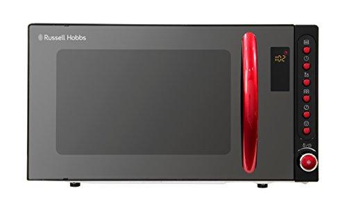 Russell Hobbs RHM2080BR 20 Liter schwarz Digital Mikrowelle mit rotem Griff und Tasten