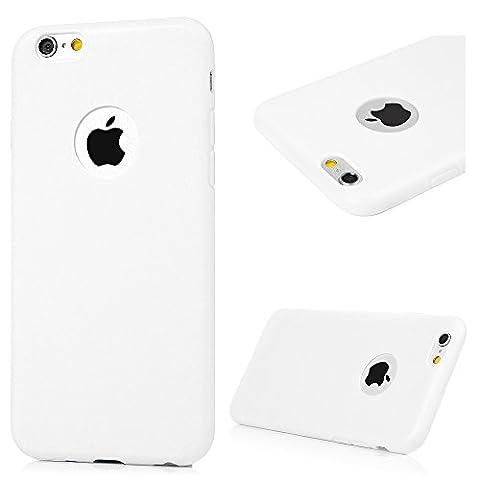 Badalink Coque iPhone 6 6S, Case Housse Étui Bumper Coque TPU Silicone Gel Mat Souple Flexible Ultra Mince Slim Léger Anti Rayure Antichoc Housse Étui iPhone 6 6S Coque Blanc