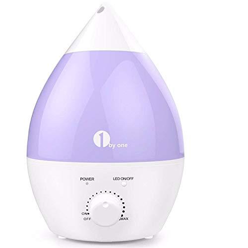 1 BY ONE Umidificatore Ultrasuoni Ionizzatore 2.8L, Nebbia Fredda, Silenzioso e con 7 Colori LED, Funzione di Auto Spegnimento