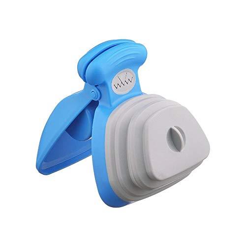 Información del Producto:  Tamaño: alrededor de 13x10.5 x 5.5 cm / 5.12 * 4.13 * 2.17in  Peso: 130  Color: azul / verde  Características del producto: higiénico, conveniente y portátil  Descripción:  Cuidado: contenedor exclusivo, sin necesida...