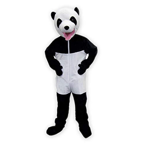 Dress Up America Niedliches weißes u. Schwarzes riesiges (Panda Maskottchen Kostüm Für Erwachsene)