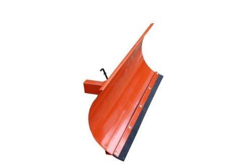 Universal Räumschild Orange / 200 cm breit + 40 cm hoch / Für Einachser oder Rasentraktor / 3-stufig verstellbar / Inklusive wechselbarer Schürf-Leiste aus Gewebe-Gummi / Schneeschieber Schneeschild Winterdienst Schneeschaufel