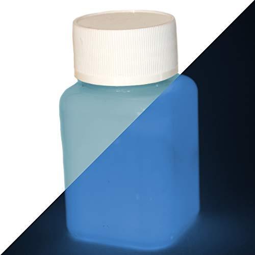 uchtfarbe Blau 100ml - Im Dunkeln leuchtende Farbe, Helle Nachleuchtfarbe, Selbstleuchtende Wandfarbe, UV Glühfarbe, Glow ()