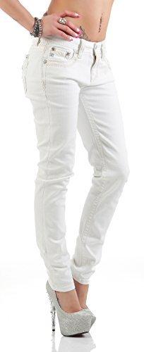 Miss Me Ladies Skinny Jeans MS5014S215 - White, 27W