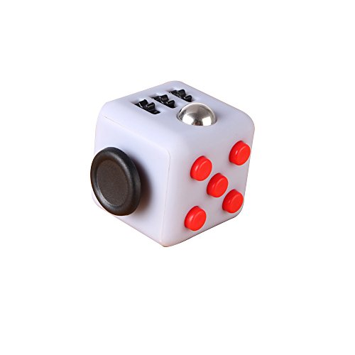 Decompression Fidget Cube Anti - Irritability Anxiety Decompression Dice Vent Artifact Creative Toys Gifts 6 colors (Gray Red)