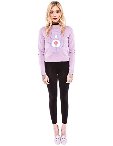 Iron Fist Clothing - Share Bear Crop Sweater M / Lilac