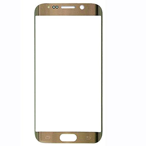 UU FIX Display Glas Front für Ersatz Samsung Galaxy S6 Edge (Gold) LCD Touch Screen Front Glas mit Werkzeugsatz(Keine Berührung und LCD). S6-lcd