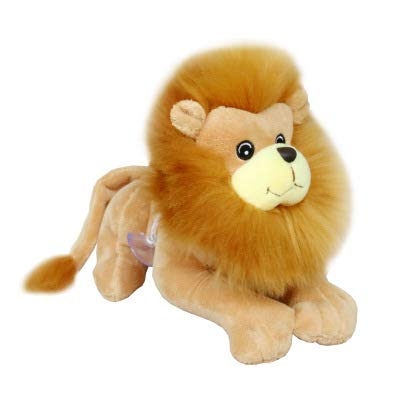 suxiaopei Neu kniend Simulation Löwe Puppe Wald Tier König der Löwen Plüschtier Puppe Greifmaschine Puppe Geschenk 22cm