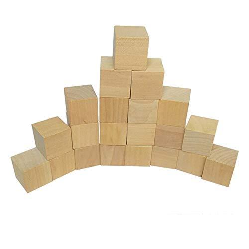 Kbsin212 25 mm Naturholz Kiefer Blöcke, 5 Packungen 100 Stück DIY Holz Kiefer Blöcke aus umweltfreundlichem Material Herstellung Handwerk (Für Handwerk Holz-blöcke)