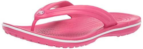 Crocs Unisex-Erwachsene Zehentrenner Zehentrenner Crocband Flip, Rosa (Paradise Rosa/Weiß), 41-42 (Herstellergröße: M8/W10)