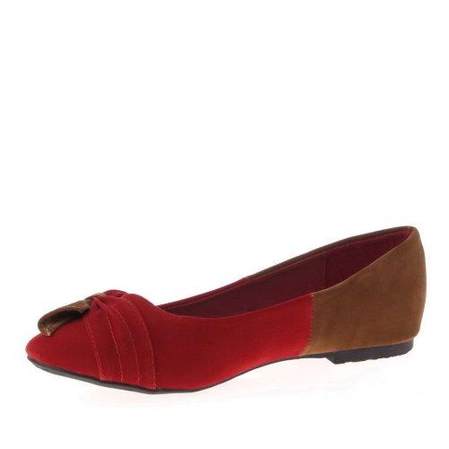 Ital-Design, Ballerine donna Beige (Rosso/Cammello)