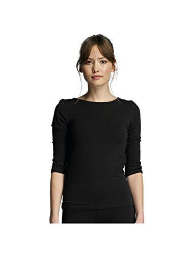 Lace-up-back Top (ONLY Damen Onllive Love 3/4 LACE UP Back TOP T-Shirt, Schwarz Black, 40 (Herstellergröße:L))