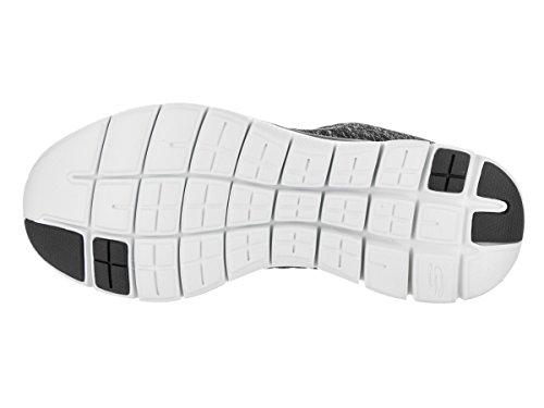 Skechers Ladies Flex Appeal 2.0 Outdoor Scarpe Da Fitness Nero / Bianco