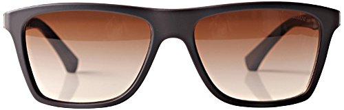 Emporio Armani Unisex EA4001 Sonnenbrille, Braun (brown rubber 506413), Large (Herstellergröße: 56)