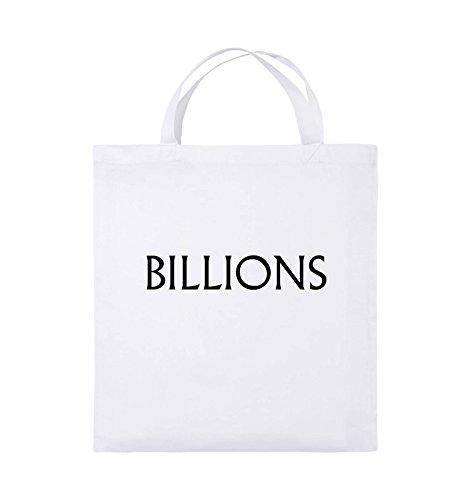 Borse Da Commedia - Miliardi - Logo - Borsa In Juta - Manico Corto - 38x42cm - Colore: Nero / Rosa Bianco / Nero