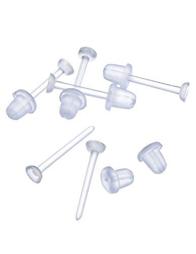 Postes de Pendientes de Plásticos Topes de Bala Accesorios de Pendientes de...