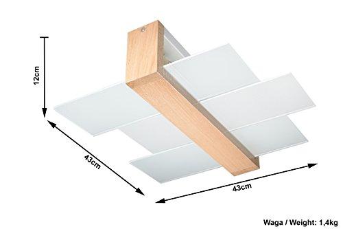 Plafoniere Per Corridoio : NovitÀ plafoniera legno naturale per salotto e corridoio vetro