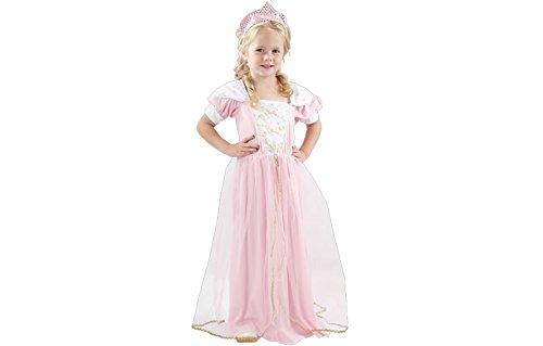 Kostüm Prinzessin Fee 98/104 rosa Kleid mit Krönchen [223]