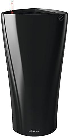 Lechuza premiuim Delta 40Pot de fleurs d'arrosage automatique Noir brillant Hauteur 75cm