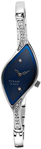 Titan analog Blue Dial Women's Watch - 9710SM01