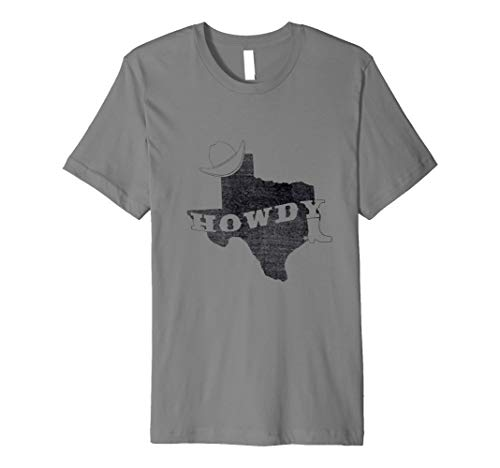 Vintage Distressed Texas Howdy Shirt Cowboy Rodeo T -